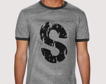 Gray 'S' T-shirt