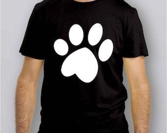 007i - T-Shirt Impronta - GATTO - Footprint Cat