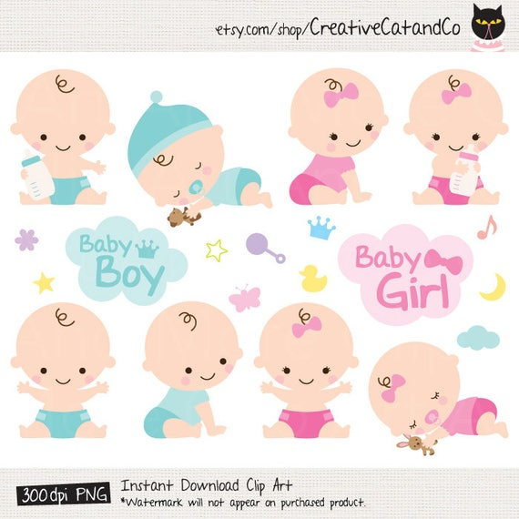 baby shower clipart clip art baby boy girl clipart cute baby rh etsy com cute baby clipart pictures cute baby clipart free