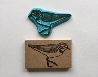 Rubber stamp, hand carved stamp, mounted or unmounted, animal design, bird, bird stamp