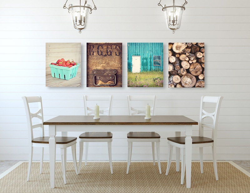 Farmhouse Wall Art Kitchen Decor SET Of FOUR Prints Or