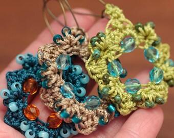 Crochet Earring Pattern, Jewelry Tutorials, Crochet Tutorial Patterns, DIY Jewelry (40)