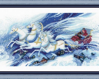 Magical Sleigh Ride - Cross Stitch Kit from RIOLIS Ref. no.:100/046