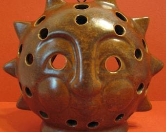 Vintage Ceramic SunBurst Votive Candle Holder