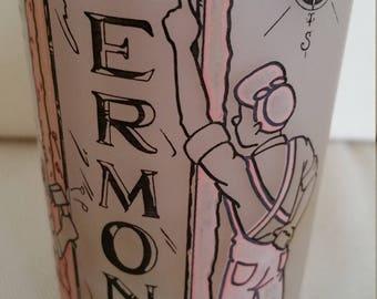 Vermont vintage commemorative frosted tumbler