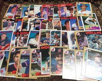 50 Cleveland Indians Baseball Cards 1980's