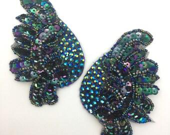 Blue Leaf Nipple Tassels