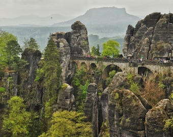 Photo of Saxon Switzerland national park - Bastei - in Germany