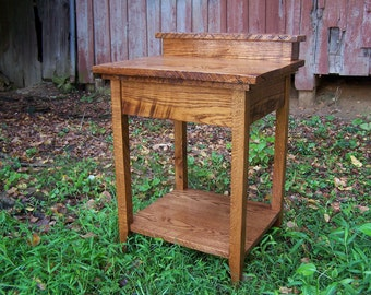 Rustic Bathroom Vanity from Reclaimed Antique Oak