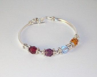 Swarovski Crystal Jewelry -  Mothers or Grandmothers Bracelet -