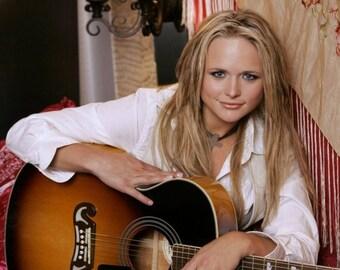 "An 8 x 10"" Glossy Reproduction photo of  Country Singer Miranda Lambert"