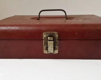 Bernz O Matic Red Metal Tool or Storage Box