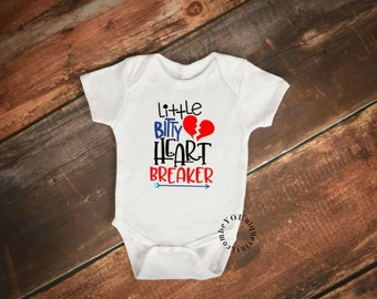 Valentine's Day Kids Shirt/Little Bitty Heart Breaker/ Cute kids Shirt/ Valentine's day