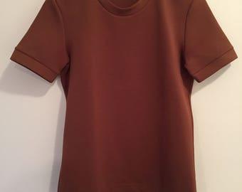 Vintage Prada structured brown short sleeve T Shirt Small