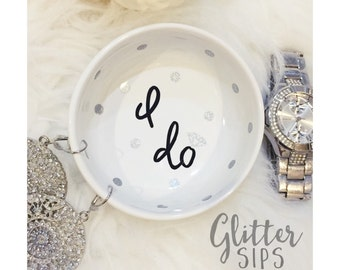 I Do Ring Dish // Jewelry Dish // Jewelry // Engagement Ring // Just Married// Wedding Gift // Bridal Shower // Engagement Gift