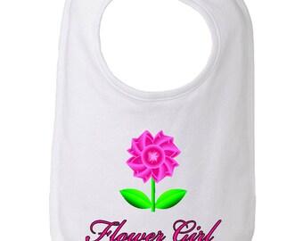 Flower Girl Bib, Bib for Flower Girls, Flower Girl Gift