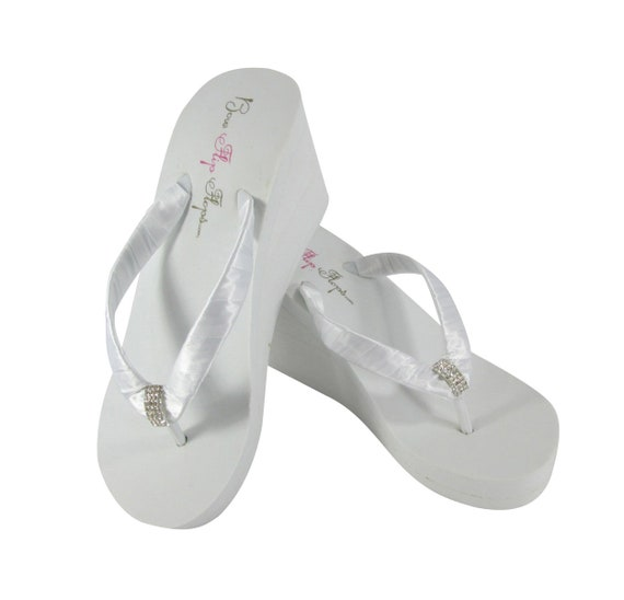 Wedge Flip Flops Wedding Blue Shoes choose Heart Bridesmaid Bride White Bridal Ivory Flops Flip Navy colors Wedges YErEH1