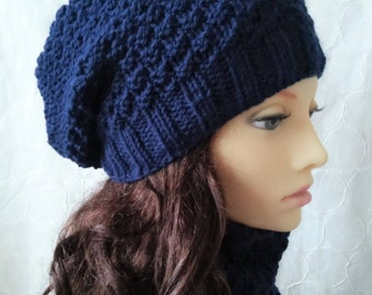SLOUCH BEANIE PATTERN Womens Slouchy Hat Knitting Patterns Digital Download Gift for Women Sister Gift Handmade Gift for Mom Toque/ Garryvoe