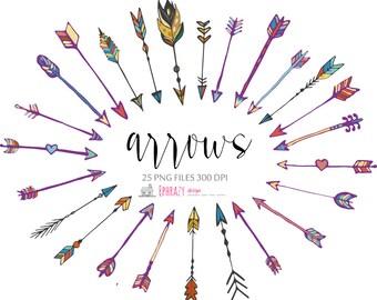 20-35% OFF Arrow clipart. Arrows clipart. Arrow clip art. Arrows. Tribal arrows. Tribal arrow clipart. Hand drawn arrow.