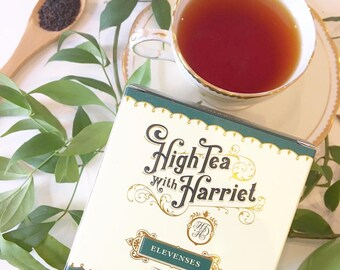 Elevenses (Irish Breakfast) tea blend - boutique loose leaf tea in hand-designed, vintage style packaging.