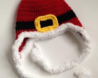 Santa Hat - Crochet Santa Hat - Crochet Hat - Knit Hat - Knit Santa Hat - Santa Hat for Kids - Photo Prop - Christmas Santa Hat