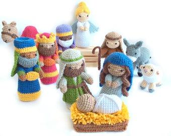 Crochet Nativity Pattern, Amigurumi Nativity Pattern, Christmas Crochet Pattern, Amigurumi Christmas Pattern, Nativity Set, Nativity Craft