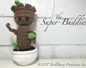 Baby Groot Superhero Inspired Nerd Crochet
