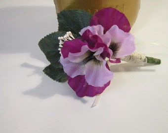 boutonniere, groom, wedding, pansey boutonniere, purple boutonniere, prom, anniversary boutonniere, fatherofthebride/groom, timelesspeony