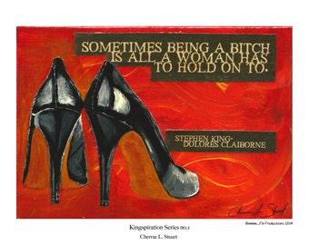 Stephen King inspired Art Print- Dolores Claiborne