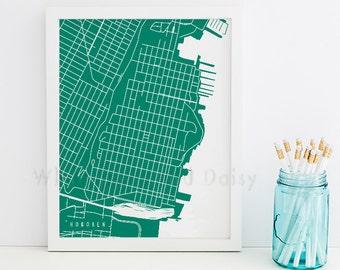 Hoboken Map Art Hoboken Print Hoboken Art Print Hoboken Poster Hoboken Printable Hoboken City Art Hoboken Florida Art Hoboken Digital
