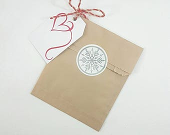 """25 Kraft Brown Paper Bags 5""""x7.5"""" 