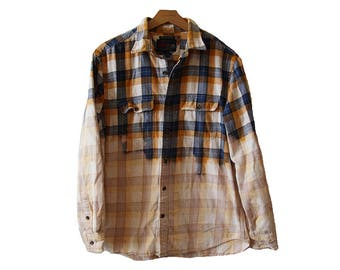 Bleached Flannel Shirt Size Large