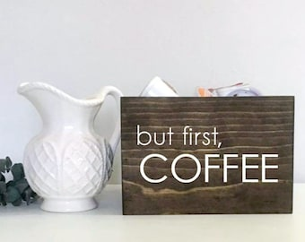 But First Coffee | Coffee Storage | K Cup Holder | Condiment Storage | Gifts for Him | Gifts for Her | Gift for Mom | Teacher Gift | Drink