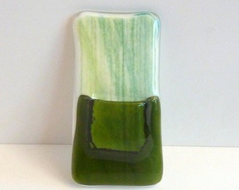 Green Glass Pocket Magnetic Vase by BPRDesigns