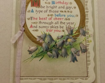 Antique Edwardian Happy Birthday Postcard