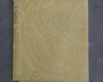 """Vintage Key West Hand Print - Lilly Pulitzer Fabric """"Lace Paisley"""" by Zuzek New Old Stock 4.5 Yards"""