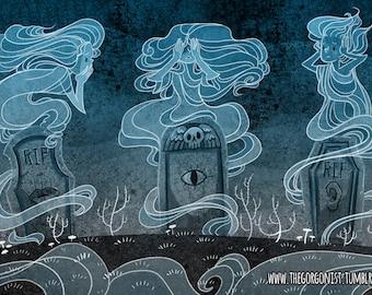 Cemetery Trio 8x12 print
