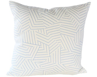 Deconstructed Stripe Cobalt pillow covers - Made to Order