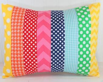 Cushion Cover, Nursery Decor, Home Decor, Throw Pillows, Decorative Pillows, Pillow Covers, Pillow, 12 x 16, Rainbows, Rainbow, Pink