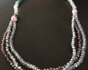 Sparkling Glass Necklace