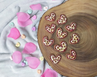 Heart Shaped Pizza Magnet