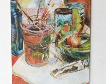 Original Oil Painting - Painter's Table