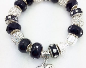 Sister Charm Bracelet - European Style in Black -Great Gift