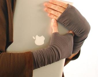 Fingerless Gloves - Gray - Eco Friendly - Organic Clothing - Sustainable