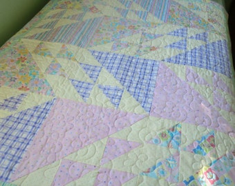 FREE SHIPPING USA or Canada; Large Baby or Toddler Bed Size Quilt