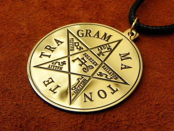 Pentagram of solomon necklace tetragrammaton pendant aloadofball Images