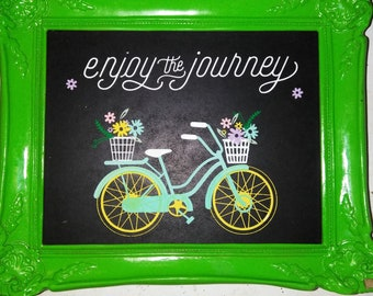 enjoy the journey wall art
