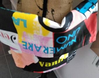 Sac bandoulière thème magazines de mode multicolores fait main neuf