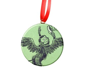 "Classic Wizard of Oz Flying Monkey 2.25"" Christmas Tree Ornament"