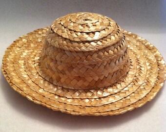 Straw Hats for Dolls & Teddy Bears - FREE U.S. SHIPPING